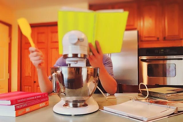 mixér, kuchař, kuchyně
