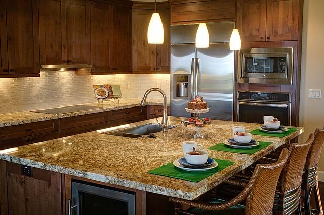 kuchyně, jídelní pult, moderna